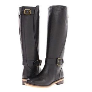 Lucky Brand Black Leather Angel Riding Boots Sz 8